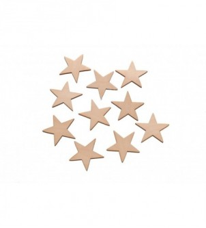 Drewniane scrapki gwiazdki komplet 10szt