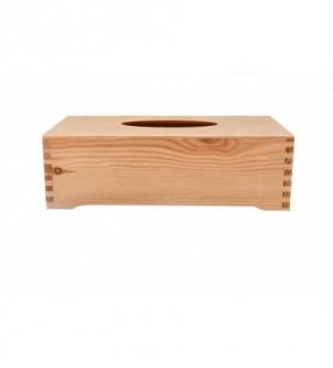 Drewniany chustecznik retro