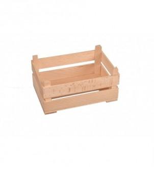 Prezent skrzynka drewniana na stroik świąteczny mini