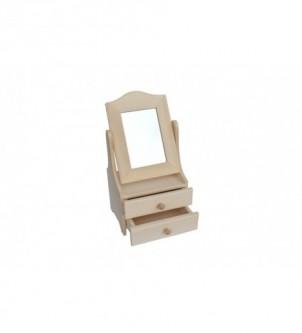 Toaletka z ruchomym lustrem na 3 szuflady T-2