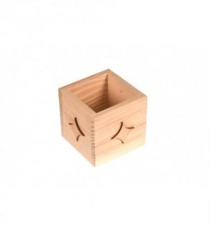 Drewniany organizer na biurko z gwiazdkami