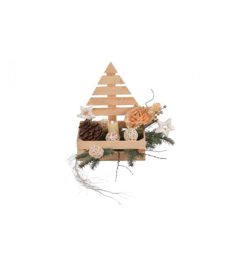 skrzynka świątecna na stroik