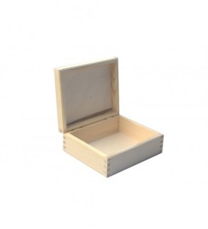 Box with lid about 19x19x8cm