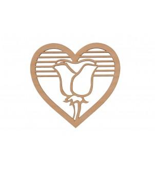 Serce zawieszka drewniane dekor