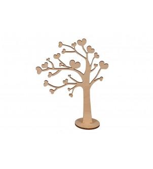 Drzewko z sercami na pierścionki