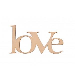 Love drewniany napis inicjał dekor decoupage