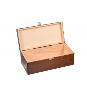 Brązowe drewniane pudełko na 1l Jack Daniels