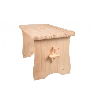 Drewniane krzesełko stołek ryczka