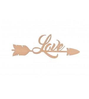 Love drewniany dekor strzała