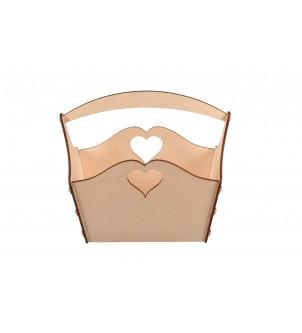 Koszyk z sercami duży