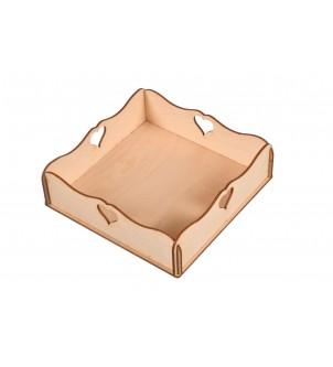 Serwetnik drewniany na serwetki decoupage