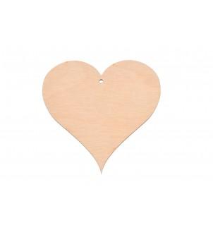 Drewniana ozdobna zawieszka serce