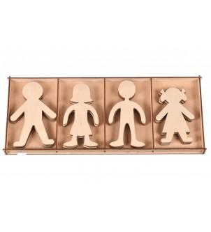 Drewniane postacie do kolorowania scrapki