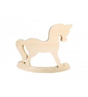 Koń drewniany na biegunach dekoracja