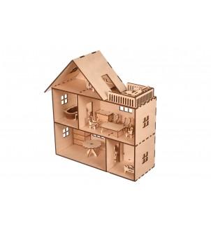 Mieszkanie/domek dla lalek z meblami