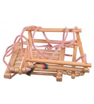Drewniana huśtawka dla dzieci naturalny kolor
