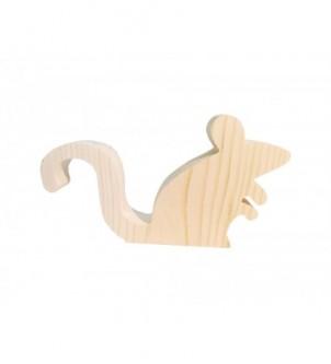 Mysz drewniana stojąca