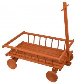 Kwietnik drewniany wóz