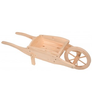 Kwietnik drewniany taczka