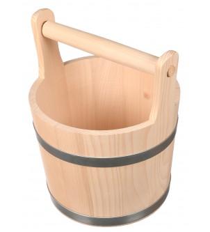 Drewniane wiadro ceber 5l