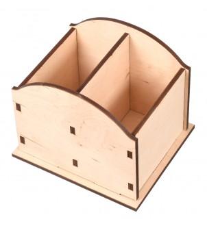Drewniany organizer z 2 przegrodami