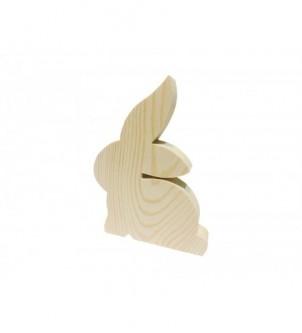 Drewniany dekor królik