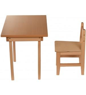 Stolik z krzesełkiem dla dzieci drewniany