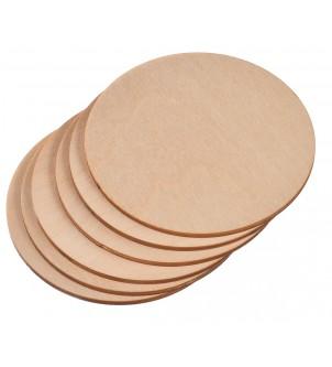 Okrągłe drewniane podkładki pod kufel kubek 6szt