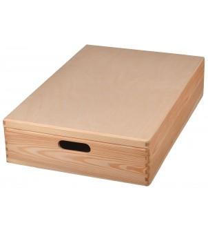 Pudełko drewniane na zabawki z pokrywą 60x40cm
