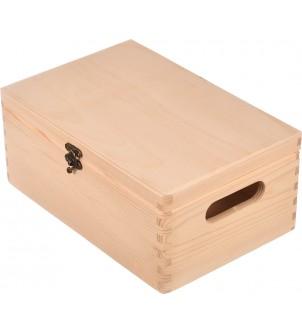 Drewniane pudełko z metalowym zapięciem 30x20cm
