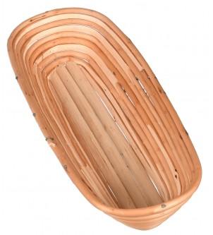 Mały owalny koszyk do wyrastania ciasta na chleb