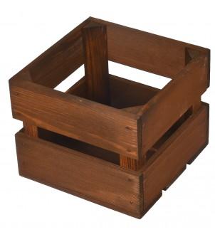 Drewniana skrzynka brązowa 20x20