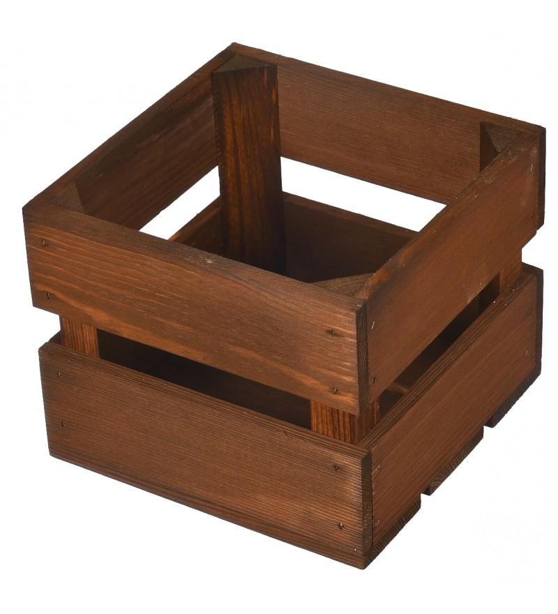 drewniana skrzynka brązowa