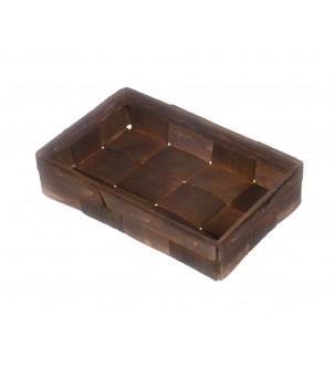 Koszyk z łuby brązowy 21x13,5x4,5cm