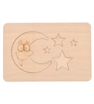Szablon do rysowania księżyc gwiazdki