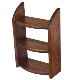 Drewniana półka ciemny brąz