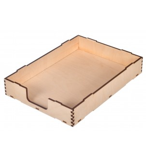 Drewniana półka na dokumenty szuflada