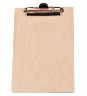 Drewniana podkładka pod kartki clipboard A4