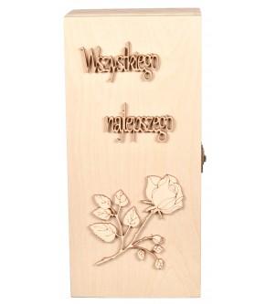 Drewniane pudełko na 1l Jack Daniels prezent