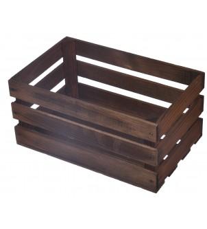 Drewniana skrzynka mała 21x12,5x12 BRĄZ