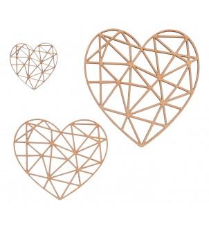 Komplet serc geometrycznych 3 SZT