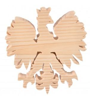 Drewniany orzeł z koroną szablon