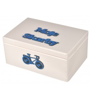 Pudełko  drewniane białe 30x20cm prezent
