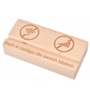 Podstawka pod telefon/tablet drewniana grawer