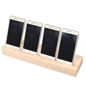 Duża podstawka pod telefon/tablet drewniana grawer