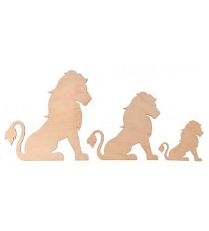 Drewniane scrapki lwy dekor