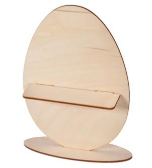 Jajko jajo drewniane ozdoba wielkanocna z półką