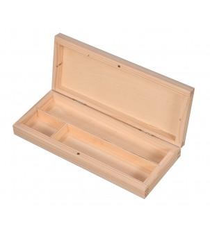 Piórnik drewniany z przegrodami Plastuś
