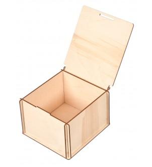 Pudełko drewniane na kubek i do decoupage