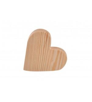 Małe serce drewniane 10,5x10,5x2,5cm